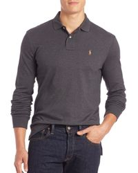 Polo Ralph Lauren | Gray Cotton Polo for Men | Lyst