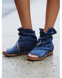 Free People | Blue Verona Slouch Boot | Lyst