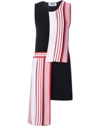 MSGM - Black Asymmetric Dress - Lyst