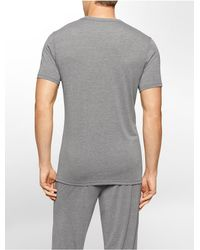 Calvin Klein | Gray Underwear Liquid Luxe V-neck T-shirt for Men | Lyst