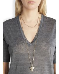 Givenchy - Metallic Gold Tone Shark Tooth Necklace - Lyst