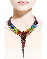 Stephen Webster - Multicolor Rainbow Feather Collar Necklace - Lyst