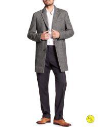 Banana Republic - Gray Factory Wool-blend Topcoat for Men - Lyst