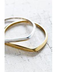 Urban Outfitters - Metallic Milo Metal Bangle Bracelet Set - Lyst