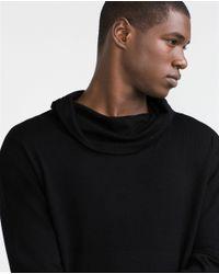 Zara | Black Funnel Neck Oversize Sweater for Men | Lyst