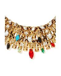 Nasty Gal - Metallic Royal Flush Collar Necklace - Lyst