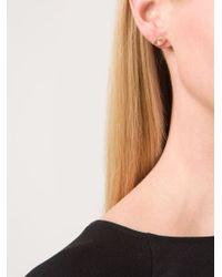 Marie-hélène De Taillac - Pink Rose Quartz Lip Earrings - Lyst
