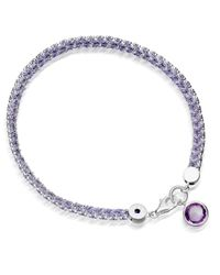 Astley Clarke | Metallic Modern Love 18ct Gold Plated Bracelet With Amethyst | Lyst
