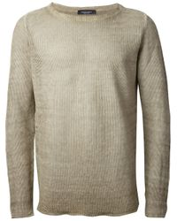 Roberto Collina | Natural Crew Neck Sweater for Men | Lyst