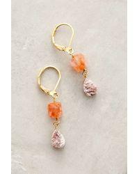 Anthropologie - Orange Prismatic Drop Earrings - Lyst