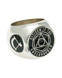 Black Scale - Metallic The Citizen Ring for Men - Lyst
