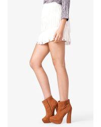 Forever 21 - White Chiffon Fringe Mini Skirt - Lyst