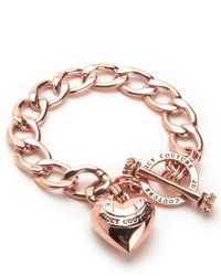 Juicy Couture | Pink Banner Heart Starter Bracelet | Lyst
