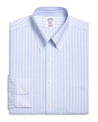 Brooks Brothers - Blue Non-iron Extra-slim Fit Brookscool® Sidewheeler Stripe Dress Shirt for Men - Lyst
