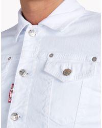 DSquared² - White Jean Jacket for Men - Lyst