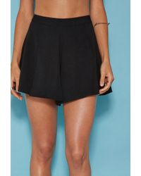 Forever 21 | Black Tiger Mist Pleated Shorts | Lyst