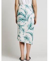Free People | Blue Havana Print Wrap Skirt | Lyst