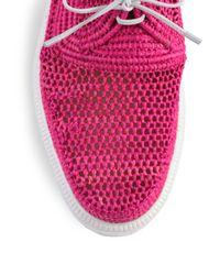 Robert Clergerie - Pink Poco Woven Raffia Platform Loafers - Lyst