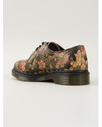 Dr. Martens - Natural Printed Lace-Up Shoes - Lyst