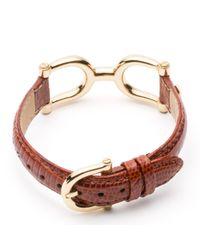 Tommy Hilfiger - Brown Mariner Leather Bracelet - Lyst