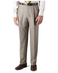 Brooks Brothers - Brown Country Club Saxxon Wool Madison Fit Pleat-front Trousers for Men - Lyst