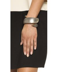 Alexis Bittar - Gray Coiled Hinge Bracelet - Warm Grey - Lyst