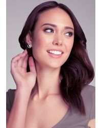 Bebe - Metallic Faceted Stone Studs - Lyst