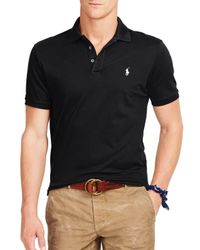 Ralph Lauren   Black Polo Stretch-mesh Slim Fit Polo Shirt for Men   Lyst