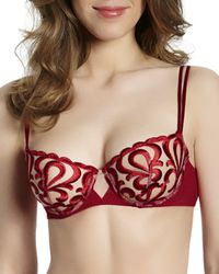 Simone Perele - Look Embroidered Demi Cup Bra - Lyst