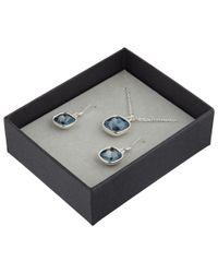 John Lewis | Gray Cushion Cut Pendant And Earrings Set | Lyst