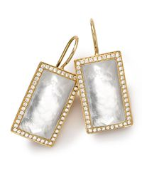 Ippolita - Metallic 18k Gold Gelato Small Baguette Mother-of-pearl Earrings With Diamonds - Lyst