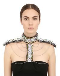 Only Child | Metallic Fool's Paradise Crystal Body Harness | Lyst