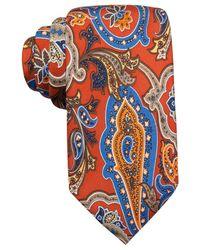 Countess Mara - Orange Fall Paisley Print Tie for Men - Lyst