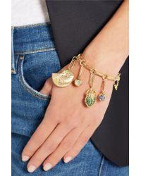 Aurelie Bidermann - Green 18-karat Gold Tsavorite Beetle Charm - Lyst