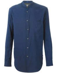 Paul Smith - Blue Band Collar Shirt for Men - Lyst