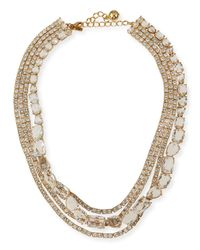 kate spade new york | Metallic Draped Jewel Multi-strand Necklace | Lyst