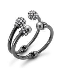 INC International Concepts | Metallic Imitation Pearl and Crystal Fireball Hinge Bracelet Set | Lyst
