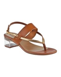 Sesto Meucci | Brown Aladin Thong Sandal Cuoio Leather | Lyst