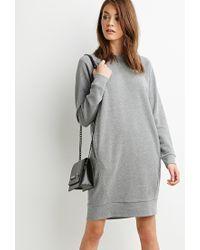 Forever 21 | Gray Raglan Sweater Dress | Lyst