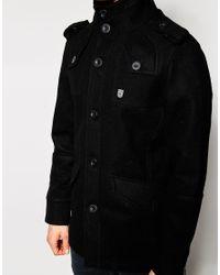 Fly 53 | Black Wool Coat for Men | Lyst