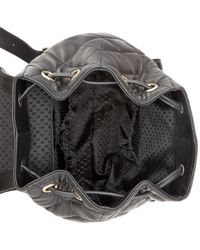 DKNY - Black Gansevoort Quilted Nappa Leather Backpack - Lyst