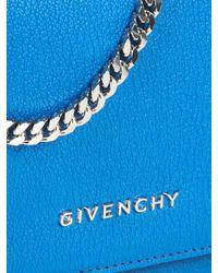 Givenchy - Blue Pandora Leather Clutch - Lyst