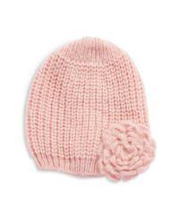 Wooden Ships - Pink Knit Flower Beanie - Lyst