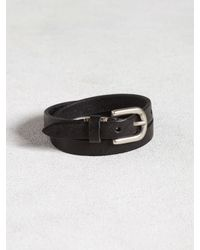 John Varvatos | Black Leather Double Wrap Cuff for Men | Lyst