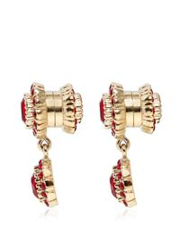 Givenchy - Red Crystal Pendant Earrings - Lyst
