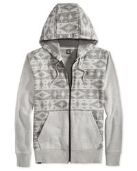 Volcom | Gray Justa Slapdit-print Fleece Hoodie for Men | Lyst