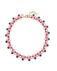 J.Crew - Pink Posy Necklace - Lyst