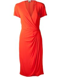 Issa - Red Wrap Dress - Lyst