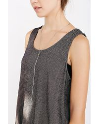 Urban Outfitters   Metallic Mirror Chain Lariat Necklace   Lyst
