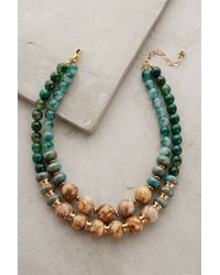 Anthropologie | Green Rona Layered Necklace | Lyst